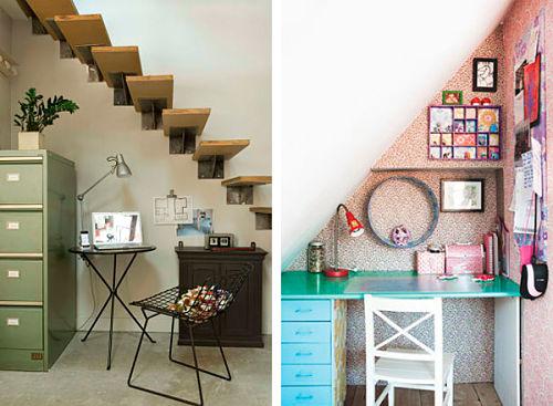 Rincones con encanto el hueco de la escalera ana pla for Como aprovechar el hueco de una escalera