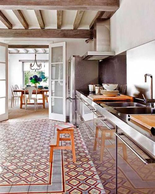 Baldosa hidr ulica para la cocina de la casamya ana pla interiorismo y decoraci n - Baldosa hidraulica cocina ...