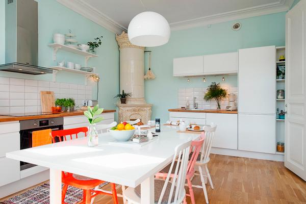 Cocina de estilo n rdico ecl ctica ana pla - Cocinas estilo nordico ...