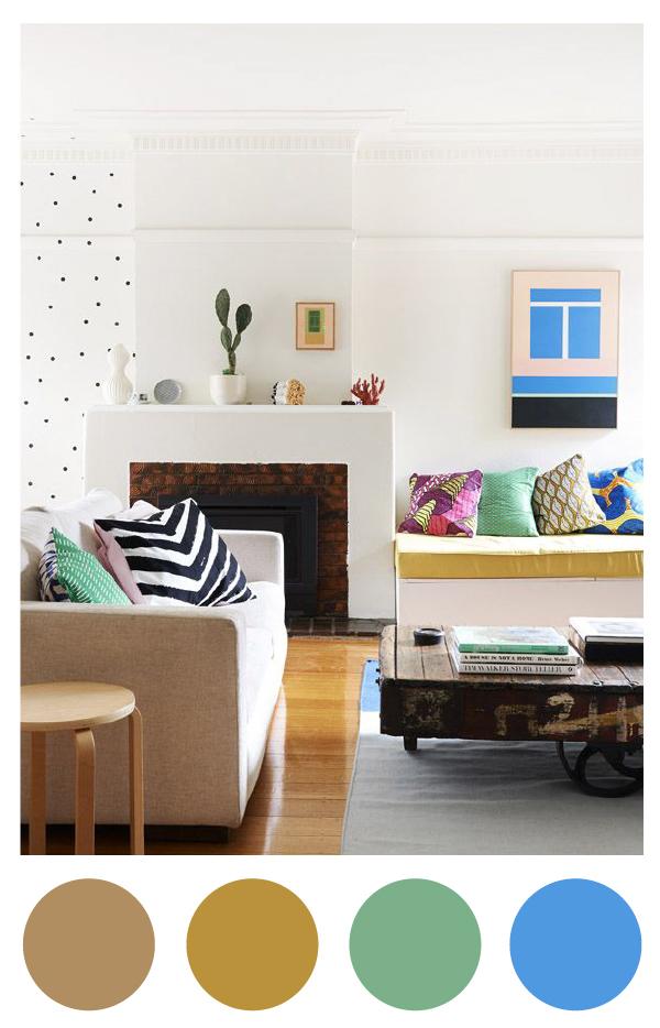 Paletas de colores ana pla interiorismo y decoraci n - Paleta de colores pared ...