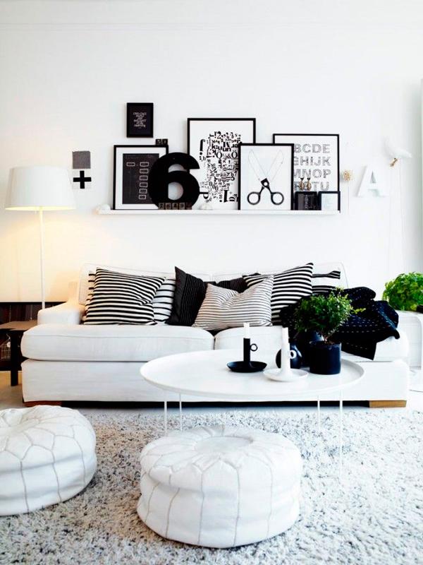 Como Decorar Un Sofa Blanco Con Cojines.Decorar Con Cojines El Sofa Ana Pla Interiorismo Y