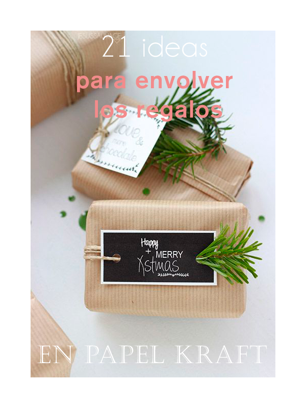 21 ideas para envolver regalos en papel kraft