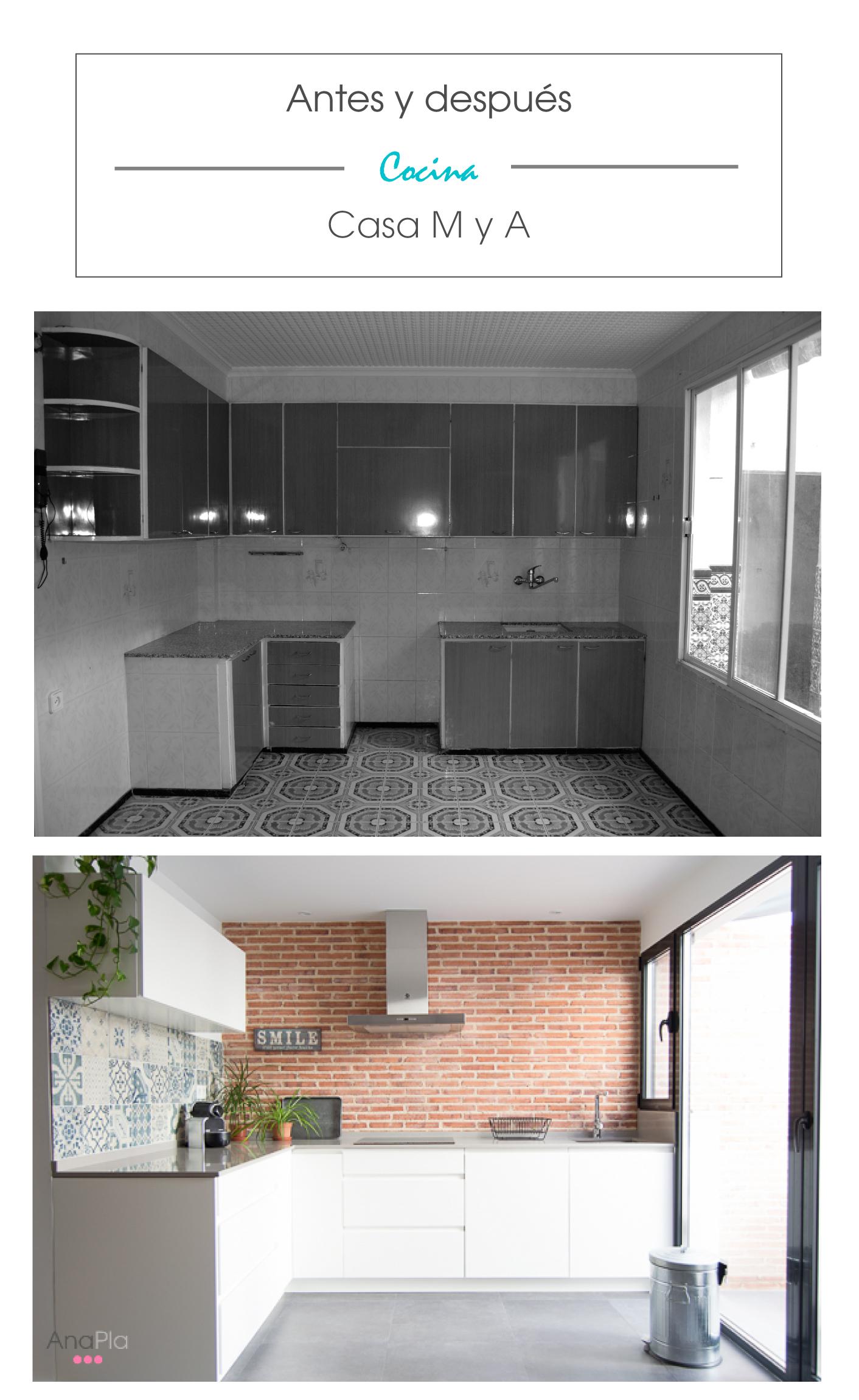 Antes y después: Cocina #casaMyA